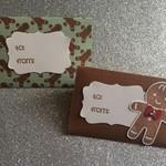 Christmas Gift Card Holder - 2 Pack, gingerbread Man set