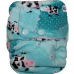 Topaz Moo Blossom Minky OSFM Ai2 Modern Cloth Nappy