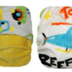 Helicopter Yellow Minky OSFM Ai2 Modern Cloth Nappy
