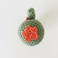 Crochet Cactus with Orange Flowers in Terra-Cotta Pot - Free Shipping