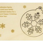 Personalised Christmas card with pop out tree decorations