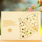 Personalised Christmas card with pop out 3D standing tree decoration
