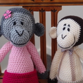 Marcia - Hand crocheted Monkey by CuddleCorner