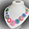 Multi-colour button necklace -Bright Bubbles