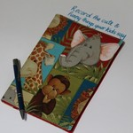 Journal cover with journal, Record the cute and funny things your kids say