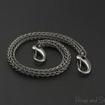 Stainless steel key chain. Man's long key chain. Decorative key chain.