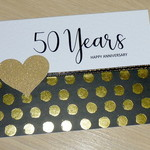 Wedding Anniversary card - Black and Gold