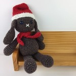 Christmas Bunny Softie | Soft Toy | Baby | Child | Hand Crochet | Ready to Post