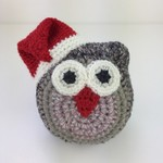 Christmas Owl Softie | Baby | Child | Gift Idea | Hand Crochet | Ready to Post