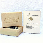 Lemongrass Bergamot Pure Olive Oil Soap, 130+/-10g