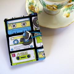 Tea Bag Wallet  / Travel Tea Purse - Retro Music Cassettes