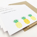 Notecard Pack - Pineapples - Set of 5 Notecards and Envelopes - NOT024