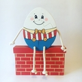 Hand painted Wooden Humpty Dumpty stacker.  (4 Piece)
