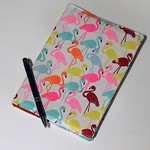 Journal Cover with Journal, Flamingo