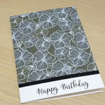 Birthday card - Hibiscus print