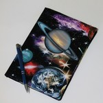 Journal cover with journal, space theme