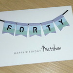 Male Happy Birthday card  - 40th 50th 60th
