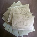 Five Nativity Scene on Silver Pearlised Cards with Matching Envelopes