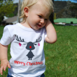 RUBY REINDEER CHRISTMAS TEE SIZE 1