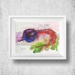 "Beetroot Painting Kitchen Wall Art 5 x 7"" Art Print"