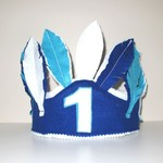 Boys Cake Smash Hat, Birthday Feather Crown, First Birthday Hat