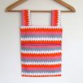Laundry Fun Peg Bag - Pink & Orange Zigzags
