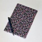 Journal cover with journal, Bunting pattern