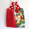 Large Market Eco Shopping Carry Bag - Juicy Patchwork Pin Up Girls