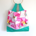 Large Market Eco Shopping Carry Bag - Clouds & Rainbows