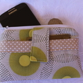 Retro Circles phone purse
