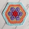 4 Crochet Coasters - 100% Cotton