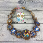 Nativity - Christmas - Necklace Buttons and Polymer - Jewellery - Earrings