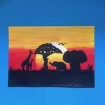 'Under African Skies' Acrylic Painting