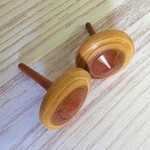 Two Hand Turned Kurara Spinning Tops (Items K 081a and b)