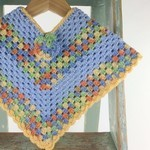 Pure Wool Baby Crochet Poncho | 6 - 12 Months | Hand Crocheted | Ready to Post