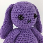 Lavender Bunny Softie | Toy | Child | Gift Idea | Hand Crochet | Ready to Post