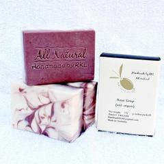 Rose Soap 3 x 120g per bar (in box)