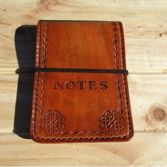 Personalized Leather Notebook book Cover Hand Made. Notepad Pocket Book