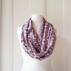 Infinity Scarf Japanese Cotton Lawn Long Scarf Wrap Japanese Cotton Shawl
