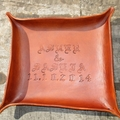 Personalized Leather Valet Tray. Dresser Tray, Desk Tray, Change tray.