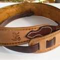 Deluxe Personalized Leather Guitar Strap Custom made