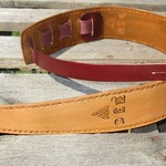 Personalized  Leather Guitar Strap Custom made. Wide.