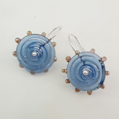 Lampwork Glass Sterling Silver Earrings