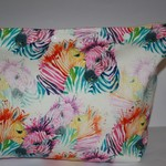 Project Knitting Yarn Craft Bag/ Water Color ZebrasPouch