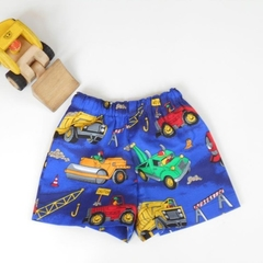 "Sizes 1 and 2 - ""Trucks and Diggers"" Shorts"
