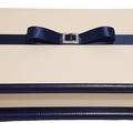 Classic White & Navy Keepsake Trinket Treasure Jewellery Memory Wooden Box