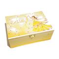 Princess Belle Keepsake Memory Trinket Treasure Jewellery Wooden Box Yellow