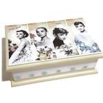 Vintage Audrey - Classic Beauty Keepsake Memory Trinket Jewellery Treasure Box