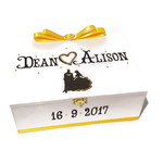 Personalised Princess & Super Hero Wedding Keepsake Memory Wooden Box