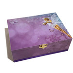 A Little Fairy Keepsake Memory Trinket Treasure Jewellery Wooden Box Purple